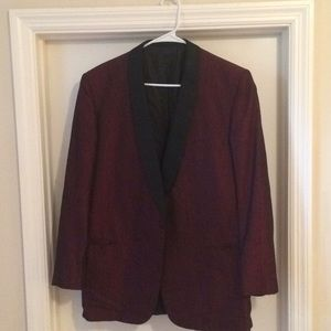 Vintage red smoking jacket
